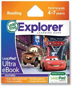 Price comparison product image Leapfrog Leappad Explorer Ultra Ebook - Cars 2.
