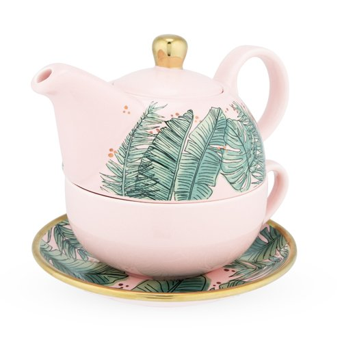 Pinky Up 6145 Addison Tropical Tea for One Set Teapots, Size