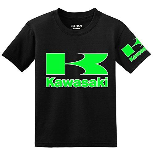 Kawasaki with Sleeve T-Shirt, Large Black