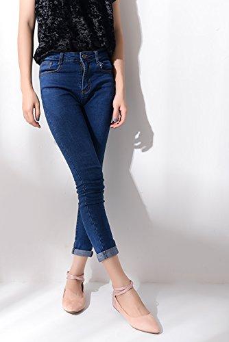 Mila Dam Lee Mode Nya Ankelbandet Spetsiga Tå Kvinnas Dragkedja Lägenheter Rosa