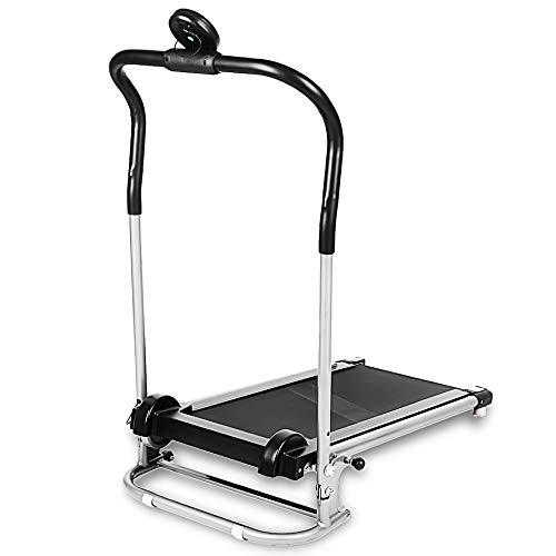 RoseYary Folding Free Assembly Health Fitness LED Display Treadmill Running Machine