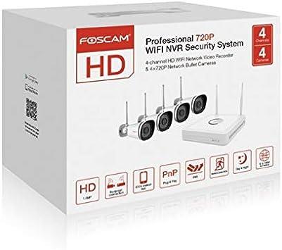 Foscam Fn3104 W B4 1t Video Monitoring Wifi Wireless Hd 720p And Foscam With 4 Cameras Hard Drive 1 Tb White Baumarkt