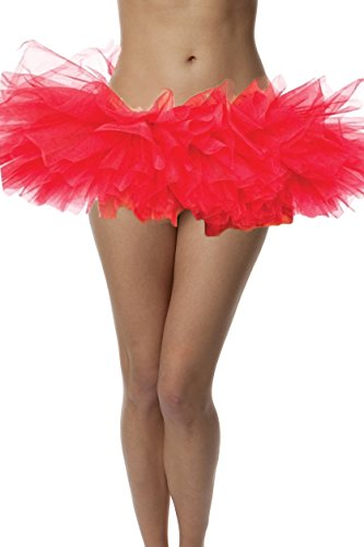 [Top Rated Adult Tutu Skirt, ballet tutu style, by BellaSous. Perfect princess tutu, adult dance skirt, rehearsal tutu, or petticoat skirt. Plus size tutu available! One Size - Red tutu] (Belly Dancing Costumes Amazon)