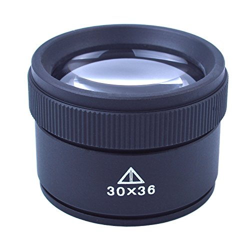 BronaGrand 30x36mm Jeweler Optics Loupes Magnifier Loop Microscope Magnifying Glass Lens ()