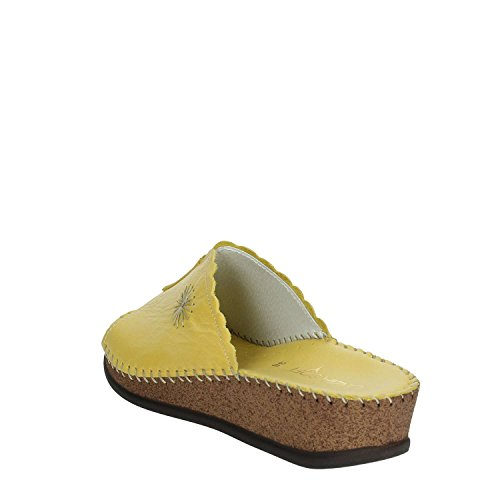 Women IU804P 004 Yellow Clogs Cinzia Soft ISWqU