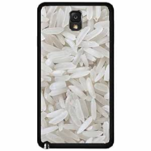 Grains of White Rice - Phone Case Back Cover (Galaxy Note 3 - TPU Rubber Silicone)