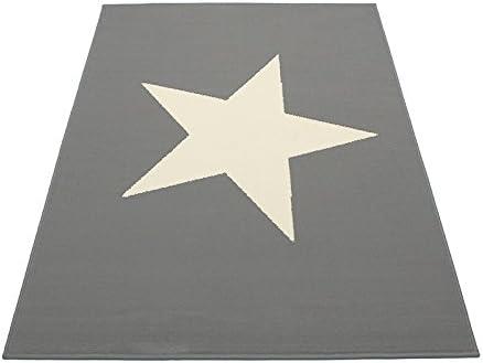 Unbekannt 90 x 60 cm – Alfombra Infantil Estrellas Gris Blanco algodón Dormitorio Juvenil Stars Deko Estrella Gris Claro Parte – Alfombra diseño de Estrellas Estrella: Amazon.es: Hogar