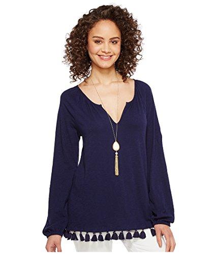 Lilly Pulitzer Women's Linzy Top True Navy Shirt