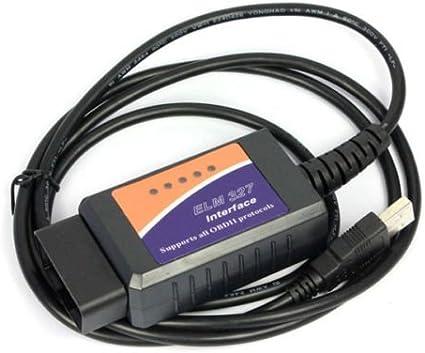 ELM327 V2.1 USB OBDII OBD2 Diagnostic Auto Car Scanner Scan Tool Cable