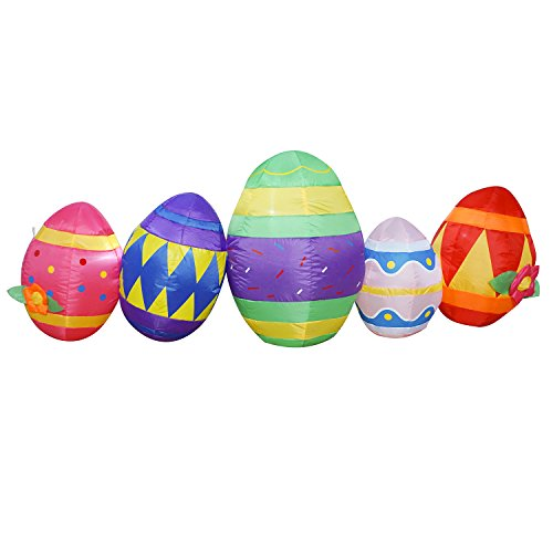 6 Ft Easter Egg Inflatable Eggs Decoration for Indoor Outdoor Home Yard Lawn (Outdoor Inflatable)