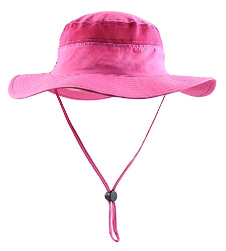 Mazo Camping Hat Outdoor Quick-Dry Hat Sun Hat Fishing Cap(Rose) -