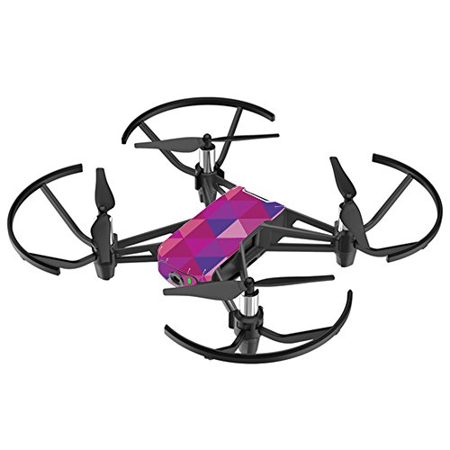 MightySkins Skin for DJI Ryze Tello Drone - Pink Kaleidoscope | Protective, Durable, and Unique Vinyl Decal wrap Cover | Easy to Apply, Remove, and Change Styles | Made in The USA