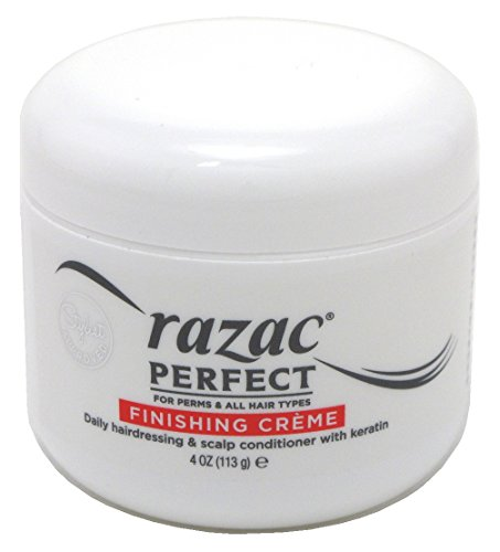 (Razac Perfect for Perms & All Hair Types Finishing Creme, Daily Hairdressing & Scalp Conditioner With Keratin, 4 oz (Pack of 3))