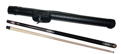 Mystik Billard Queue MANTIKOR, Länge ca. 147 cm, 2 tlg., schwarz + Köcher Karella 1/1 schwarz
