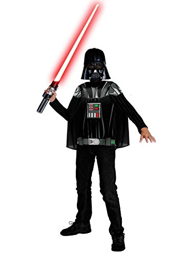 [Star Wars Darth Vader Kids Costume Kit,Black,Medium] (Darth Vader Chest Plate Costume)