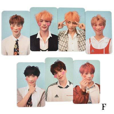 HS store 7PCS Kpop BTS Love Yourself 结 Answer Album Photo Cards Autograph Photocard Set (F)