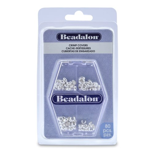 Beadalon Crimp Cover Assorted Nickel Free Silver, Plated, 80-Piece -  Artistic Wire, 349B-101