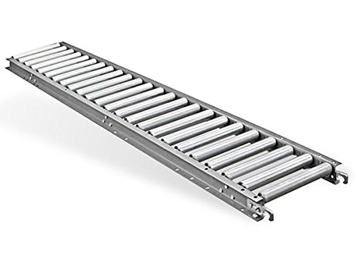 Aluminum Gravity Roller Conveyor - 10' Length - 16''BF, 18'' OAW, 1.4'' Rollers on 1.5'' Centers - 10' Length - Aluminum Frame