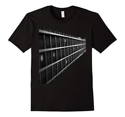 Mens Bass Guitar Fret Musician Player Metal Rock Music T-Shirt XL Black