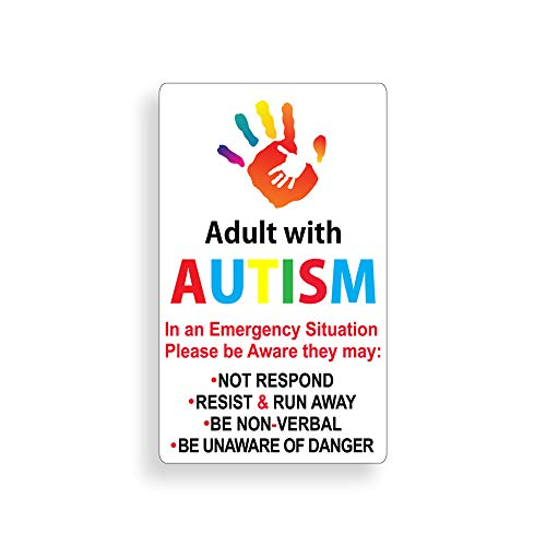 Adult Autism Awareness Static Cling Safe Safety Decal for Autistic Adult Custom Die Cut Window Door Graphic