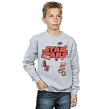 Star Wars Boys The Last Jedi Badges Sweatshirt 5-6 Years Sport Grey