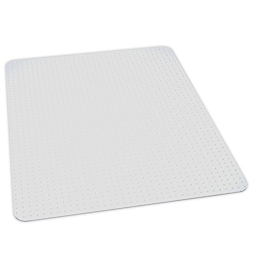 ES Robbins Everlife 60'' x 72'' Medium Pile Series Rectangle Anchorbar Chair Mat, Clear by ES Robbins