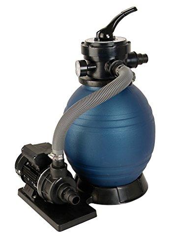 T.I.P. Schwimmbad Filter Set Sandfilteranlage SPF 180, Blau, bis 4.500 l/h Fördermenge