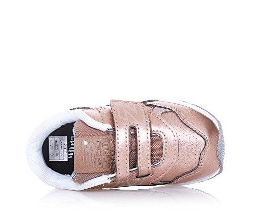 NEW BALANCE - SPECIAL EDITION Scarpa ginnica bronzo in pelle, con chiusura a strappo, logo laterale, posteriore, sulla linguetta e sulla chiusura, Bambina, Ragazza