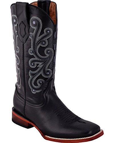Cowboy 04 Men's 15293 Toe Square Calf Boot Black French Ferrini tHfwPq