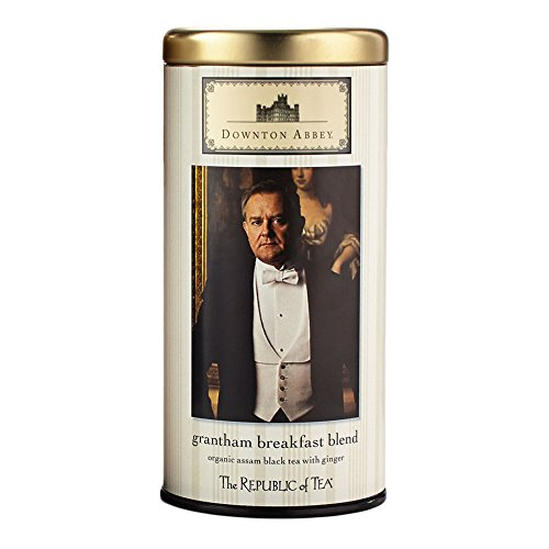 The Republic Of Tea Downton Abbey Organic Grantham Breakfast Blend Black Tea, 36 Tea Bags, Gourmet Infusion (Splash Sugar Free)