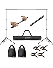 Emart Photo Backdrop Stand Kit, 7x10 ft Adjustable Photography Background Stand for Green Screen, Back Drop Sheet Support System with Carry Bag for Photoshoot Video Studio, Wedding, Birthday and Party