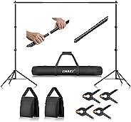 Emart Foto Video Studio sistema de soporte de telón de fondo con bolsa de transporte, 10 pies fondo