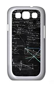Geometry Math Polycarbonate Hard Case Cover for Samsung Galaxy S3/Samsung Galaxy I9300 White