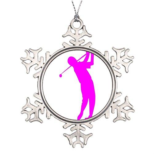 Ideas For Decorating Christmas Trees Jugador de golf Christmassnowflake Ornaments Club De Poner ()