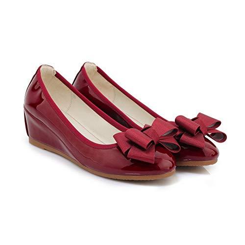Rouge Compensées 36 DGU00746 5 Sandales AN Bordeaux Femme qOIEn1
