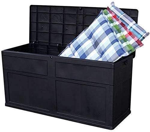 Avanti Trendstore Toomax Storage Box for Garden//Balcony with Lid Black Plastic Dimensions : 119 x 46 x 60 cm W x H x D 320 L