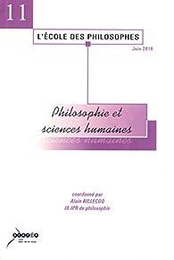 Philosophie et Sciences Humaines par Alain Billecoq