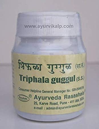Amazon com: 3 X Triphala Guggul, Ayurveda Rasashala, 60
