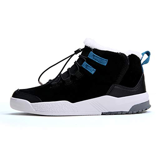 Nieve Boots Fhcgmx Goma Piel Informales Black Para Sintética De Caminar Hombre Cálidas Invierno Botas SfqfwxYU