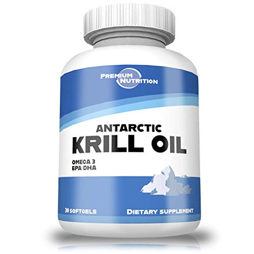 Antarctic Krill Oil - with Omega-3s EPA, DHA and Astaxanthin - Premium Krill Oil Supplement - No Fishy Aftertaste - Krill Softgels (1 Pack)