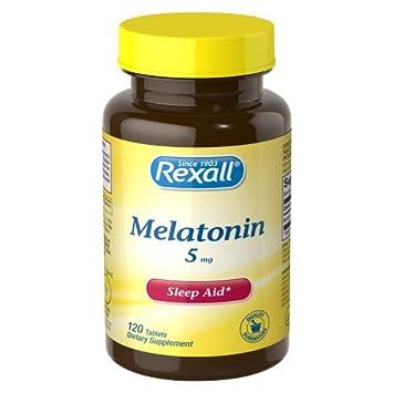 Amazon.com: Rexall Melatonin 5 mg Tablets, 120 ct: Health & Personal ...