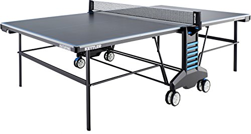 - Kettler #SketchPong Indoor/Outdoor Table Tennis Table, 4-Player Mega Bundle with Cover