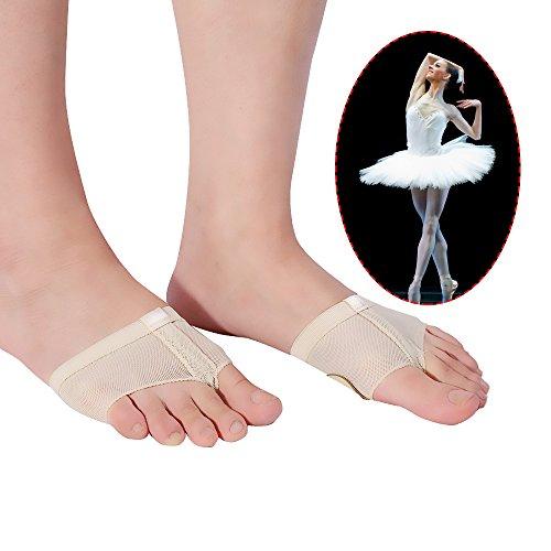 TMISHION Fußzapfen, Ballett Tanz Beine Bedecken die Zehenpolster Mikrofaser Bauchtanz Praxis Strümpfe Turnschuhe Vordere Strümpfe Schutzhülle, Sohle für Frauen Ballett Bauchtanz Latin Dance