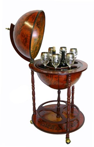 Sixteenth-Century Italian Replica Old World Globe Bar