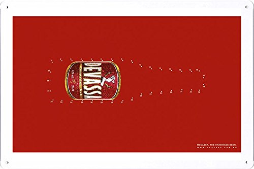 tin-sign-metal-poster-plate-8x12-of-devassa-handmade-by-food-beverage-decor-sign