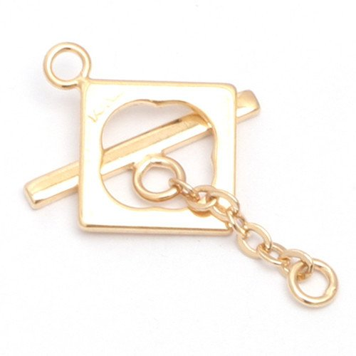 GEM-inside 1 Set Ring 14k Yellow Gold Filled DIY Jewelry Making Toggle Clasp Finding (Toggle Gold Filled 14k)