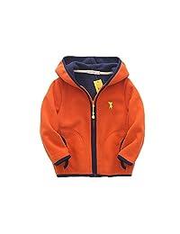 DoMii Toddler Baby Boy Fleece Jacket Outwear Zip-up Warm Coat Hoodie with Pocket