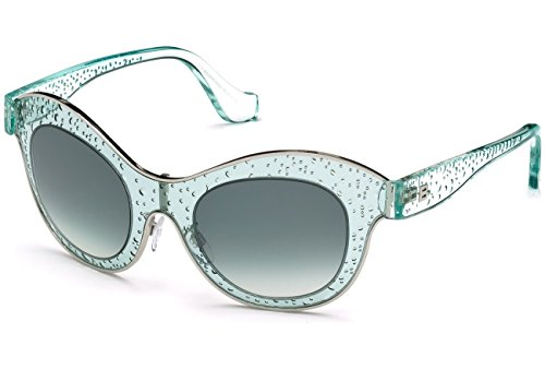 Balenciaga BA0054-84B Sunglasses light blue/gradient w/smoke 49mm