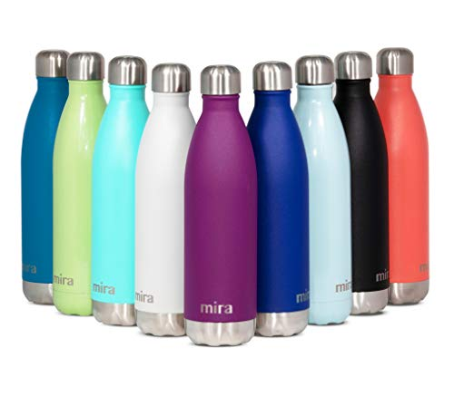 MIRA 25 Oz Stainless Steel Vacuum Insulated Water Bottle | Double Walled Cola...