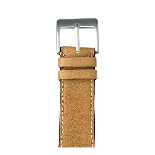 Roobaya | Premium Sauvage Leather Apple Watch Band in Sand | Includes Adapters matching the Color of the Apple Watch, Case Color:Silver Aluminum, Size:38 mm by Roobaya